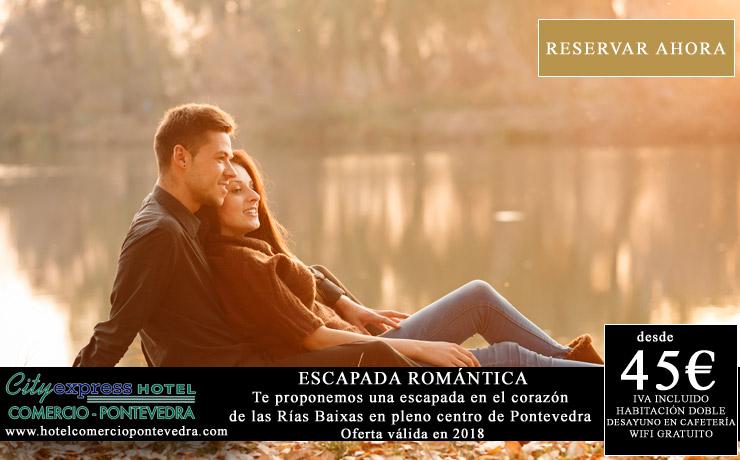 escapada romántica en Pontevedra, oferta hotel en el centro de Pontevedra